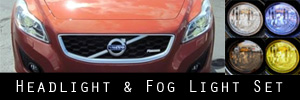11-13 Volvo C30 Headlight and Fog Light Protection Kit