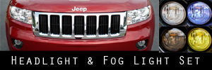 11-13 Jeep Grand Cherokee Headlight and Fog Light Protection Kit