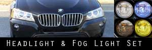 11-14 BMW X3 Headlight and Fog Light Protection Kit