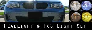 12-13 BMW 128 135 Headlight and Fog Light Protection Kit