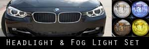 12-18 BMW 3 Series Sedan Headlight and Fog Light Protection Kit