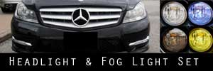 12-14 Mercedes-Benz C-Class Headlight and Fog Light Protection Kit