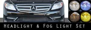 11-14 Mercedes-Benz CL-Class Headlight and Fog Light Protection Kit