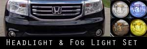 12-15 Honda Pilot Headlight and Fog Light Protection Kit