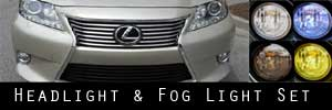 13-15 Lexus ES Headlight and Fog Light Protection Kit