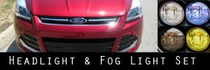 13-16 Ford Escape Headlight and Fog Light Protection Kit