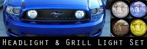 13-14 Ford Mustang GT Headlight and Grill Light Protection Kit