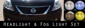 12-14 Nissan Versa Headlight and Fog Light Protection Kit