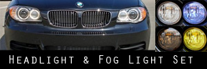 08-11 BMW 128 135 Headlight and Fog Light Protection Kit