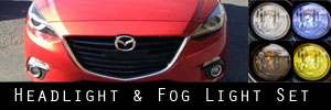 14-16 Mazda Mazda3 Headlight and Fog Light Protection Kit