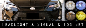 14-15 Scion tC Headlight LED Bar Fog Light Protection Kit