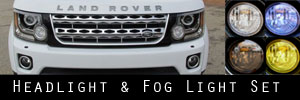14-16 Land Rover LR4 Headlight and Fog Light Protection Kit