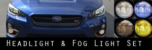 15-17 Subaru WRX and STI Headlight and Fog Light Protection Kit