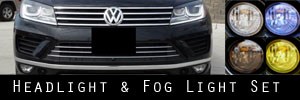 15-17 Volkswagen Touareg Headlight and Fog Light Protection Kit