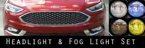 17-19 Ford Fusion Headlight and Fog Light Protection Kit