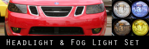 05-06 Saab 9-2x Headlight and Fog Light Protection Kit