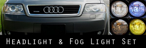 01-05 Audi Allroad Quattro Headlight and Fog Light Protection Kit