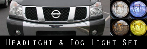 04-15 Nissan Titan Headlight and Fog Light Protection Kit
