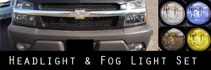02-06 Chevrolet Avalanche W/Body Cladding Headlight / Signal Light and Fog Light Protection Kit