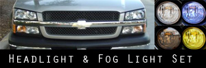 02-06 Chevrolet Avalanche WO/Body Cladding Headlight / Signal Light and Fog Light Protection Kit