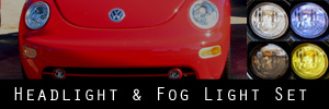 98-05 Volkswagen New Beetle Headlight and Fog Light Protection Kit