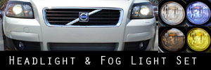 07-10 Volvo C30 Headlight and Fog Light Protection Kit