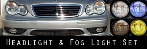 01-04 Mercedes-Benz C32  Headlight and Fog Light Protection Kit