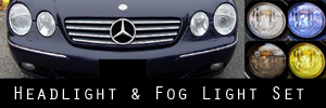 01-05 Mercedes-Benz CL500, CL600  Headlight and Fog Light Protection Kit