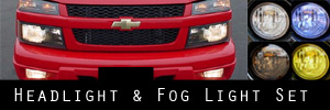 04-11 Chevrolet Colorado Headlight / Signal Light and Fog Light Protection Kit