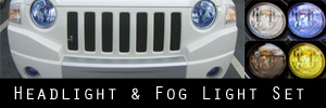 07-09 Jeep Compass Headlight and Fog Light Protection Kit
