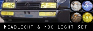 90-95 Volkswagen Corrado Headlight, Signal Light, and Fog Light Protection Kit