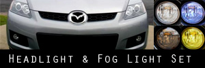 07-12 Mazda CX-7 Headlight and Fog Light Protection Kit