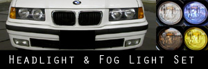92-99 BMW E36 3 Series Headlight and Fog Light Protection Kit