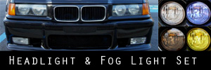 95-99 BMW E36 M3 Headlight and Fog Light Protection Kit
