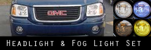 03-09 GMC Envoy Headlight and Fog Light Protection Kit