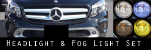15-18 Mercedes-Benz GLA Headlight and Fog Light Protection Kit