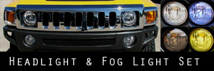 06-09 Hummer H3 Headlight and Fog Light Protection Kit