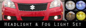 10-12 Suzuki Kizashi Headlight and Fog Light Protection Kit