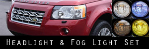 08-15 Land Rover LR2 Headlight and Fog Light Protection Kit