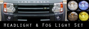 05-09 Land Rover LR3 Headlight and Fog Light Protection Kit