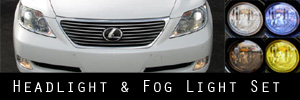 07-09 Lexus LS 460 / 600hL Headlight and Fog Light Protection Kit