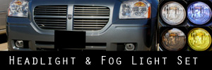 05-07 Dodge Magnum Headlight and Fog Light Protection Kit