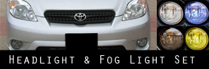 03-08 Toyota Matrix Headlight and Fog Light Protection Kit