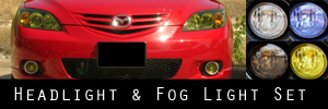 04-06 Mazda Mazda3 5 Door Headlight and Fog Light Protection Kit