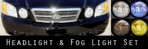 03-06 Kia Optima Headlight and Fog Light Protection Kit