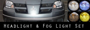 04-06 Mitsubishi Outlander Headlight and Fog Light Protection Kit