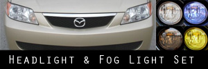 01-03 Mazda Protege Headlight and Fog Light Protection Kit