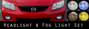 02-03 Mazda Protege5 Headlight and Fog Light Protection Kit