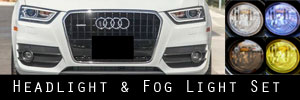 15-18 Audi Q3 Headlight and Fog Light Protection Kit