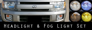 01-03 Infiniti QX4 Headlight and Fog Light Protection Kit